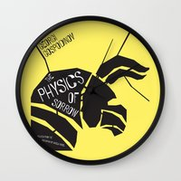 physics Wall Clocks featuring The Physics of Sorrow by Open Letter Books