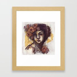 With a Protected Heart Framed Art Print