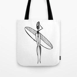 girl surfer Tote Bag