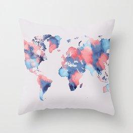 map world map 58 Throw Pillow