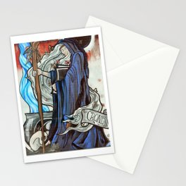 Stained Glass Witch Stationery Cards