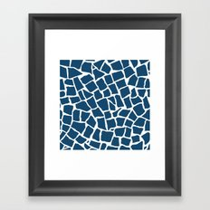 Mosaic Zoom Navy Framed Art Print
