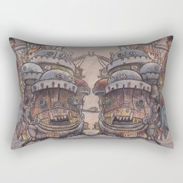 Howls Moving Castle on Wood Rectangular Pillow