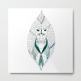 The Tribal Lioness Metal Print