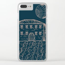 Italian Vintage Night - Countryside Landscape Clear iPhone Case