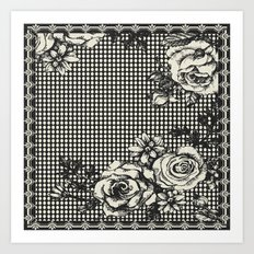 ROSE DOTS CREME Art Print