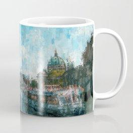 Riverside, Berlin Mitte Painting /  impressionism style Illustration  / abstract landmarks drawing Coffee Mug