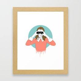 Suzy Moonrise Kingdom  Framed Art Print