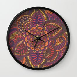Henna Style (fall colors) Wall Clock