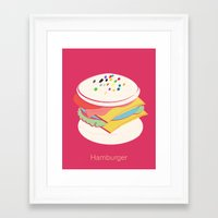 hamburger Framed Art Prints featuring Hamburger by Haina