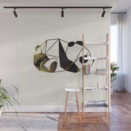 Black Gold Geometric Panda Wall Mural