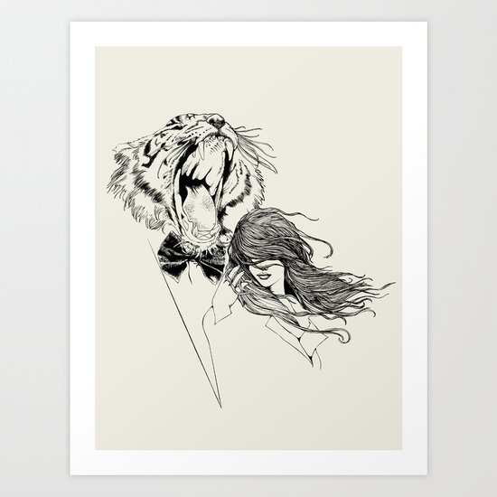 The Tiger's Roar Art Print