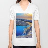 waldo V-neck T-shirts featuring Depth Of Life Quote Ralph Waldo Emerson by JuliaApostolova