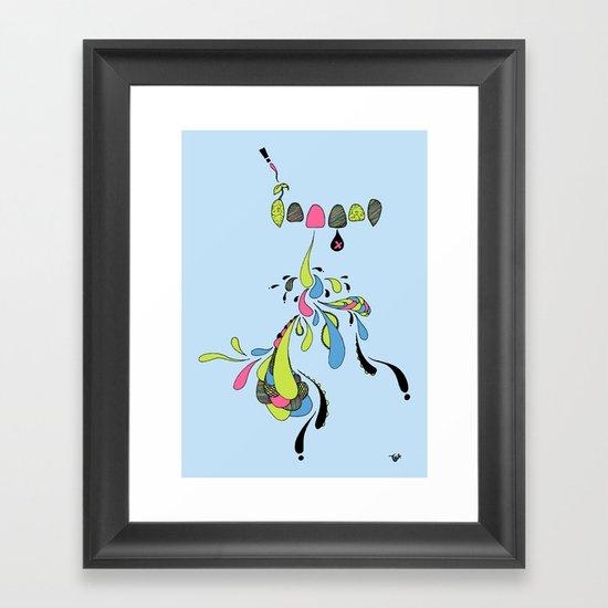 Growing Pain Framed Art Print