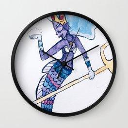 Mermaid Goddess Wall Clock