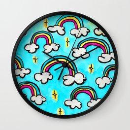 Sun and Rain Makes Magic Wall Clock