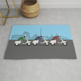 The Vintage Italian Scooter Trio Rug