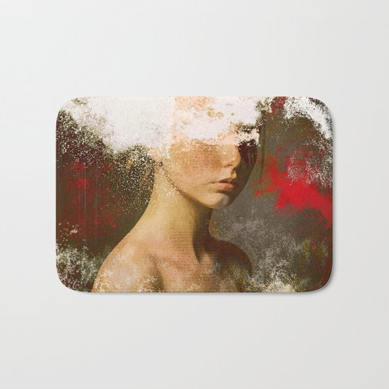 The woman without look Bath Mat