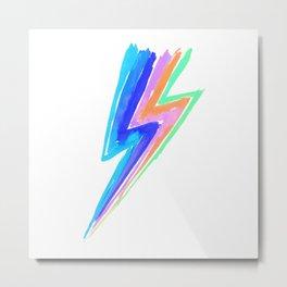 Power pastel / neon rainbow flash - Hit by stardust lightning Metal Print