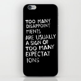 Disappointments /2/ iPhone Skin