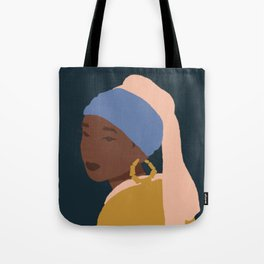 The Girl With A Bamboo Earring Tote Bag