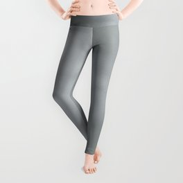 Elegant modern abstract faux silver gradient Leggings