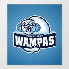 Planet Hoth Wampas - Blue Canvas Print