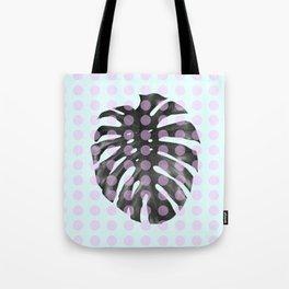 Monstera Dots Tote Bag