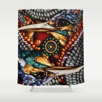 gemini Shower Curtains featuring Gemini by Thom Whalen