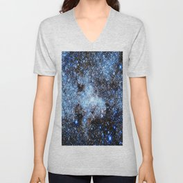 Blue gAlaxY Sparkle Stars Unisex V-Neck