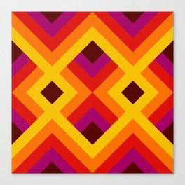 Retro Pattern 16 Canvas Print