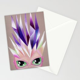 Glowing Crown Chakra Girl Stationery Cards