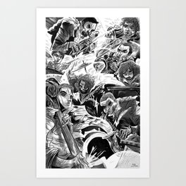 """Milkbread"" band poster Art Print"