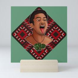 New Zealand Maori Haka Dancer Mini Art Print