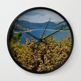 Lake view surrounded by mountains Wall Clock