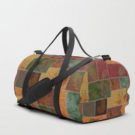 Stitches Of Autumn Duffle Bag