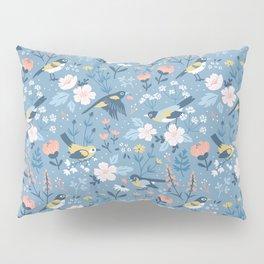 Birds & Blooms (Blue) Pillow Sham