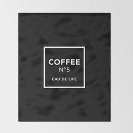 Black Coffee No5 Throw Blanket
