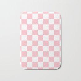 Checkered - White and Pink Bath Mat