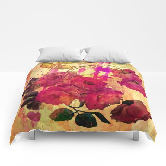 roses on abstract background Comforters