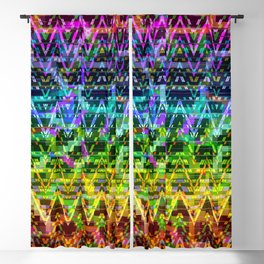 Abstract Connections Blackout Curtain