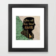 Snape - Always Framed Art Print