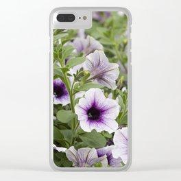 bellflower in bloom in the garden Clear iPhone Case