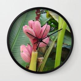 Pink Banana Wall Clock