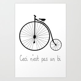 Dyke in bike Art Print