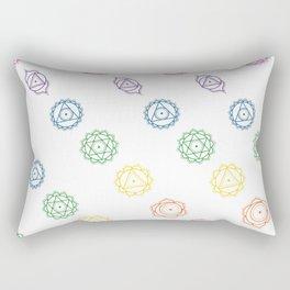White Rainbow Chakra Print Rectangular Pillow