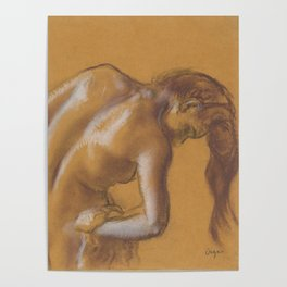 Bather Drying Herself Poster