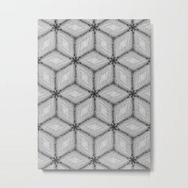 GRAY TILES Metal Print