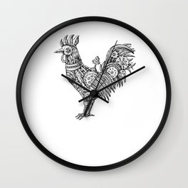 Cock-a-doodle-do Steampunk Rooster Mechanical Wall Clock