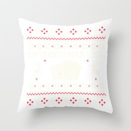 My Christmas List... Accordion Instrument Throw Pillow